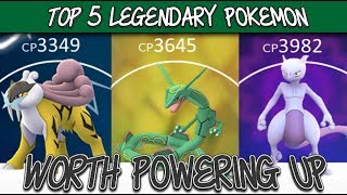 Top 5 Legendary Pokemon Worth Powering Up In Pokemon GO