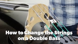How to Change the Strings on a Double Bass