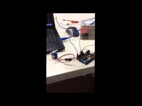 Gyroscope MPU6050 control servo