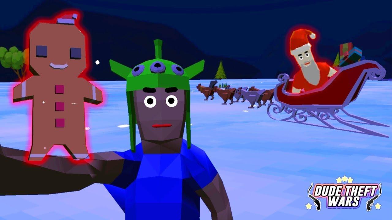 Сани Санты с Петушками! ОБНОВЛЕНИЕ в Симулятор Крутого Чувака! - Dude Theft Wars: Open World