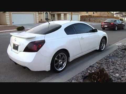 2008 White Nissan Altima Coupe On 18 Quot Gunmetal Volk Wheels