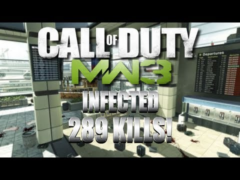 289 Kill Infected Game on Terminal Mw3 Map Pack #7