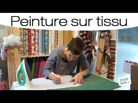 peinture sur tissu comment utiliser un feutre textile youtube. Black Bedroom Furniture Sets. Home Design Ideas