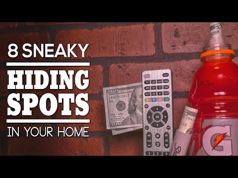 8 Sneaky Hiding Spots In Your Home