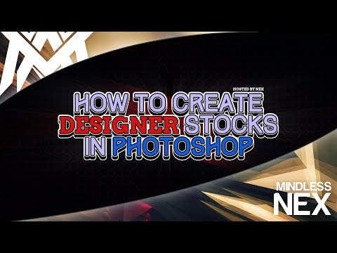 How to Create designer stocks in Photoshop! (ft. MA NEX)
