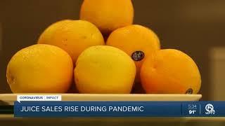 Orange juice sales soaring during the coronavirus pandemic