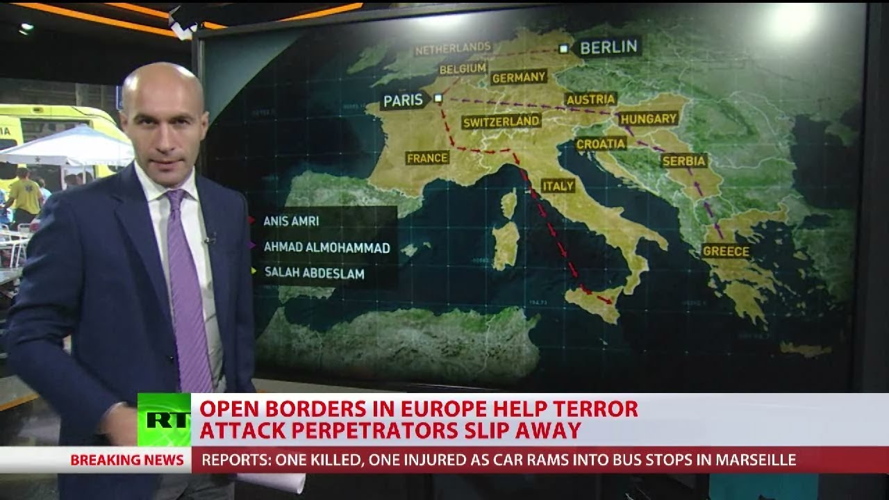 EU open borders help terror attack suspects slip away
