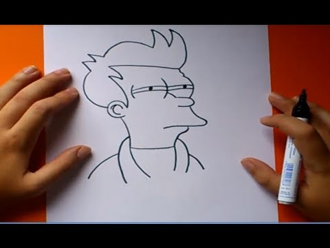 Como dibujar a Fry paso a paso 2 Futurama How to draw Fry 2 Futurama