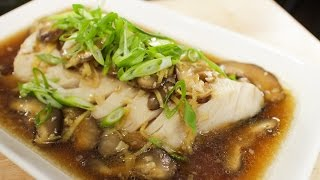 Steamed Fish w/ Ginger Soy Sauce ปลานึ่งซีอิ้ว - Hot Thai Kitchen
