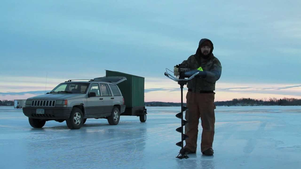 Ice spearing for northern pike youtube for Mn ice fishing show