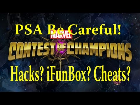 Marvel Contest of Champions - Hacks? Cheats? iFunBox? PSA Be Careful!