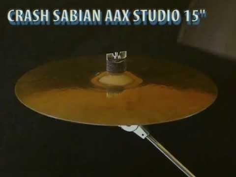 """Sabian AAX Studio Crash 15"""" cymbal"""