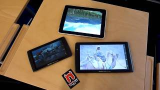 Archos 70 Internet Tablet & Archos 101 & Apple Ipad Display Comparison - De