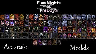 Most Accurate FNaF SFM Models (July 2018)