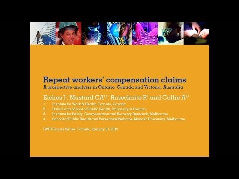 Repeat workers' compensation claims, January 31, 2012