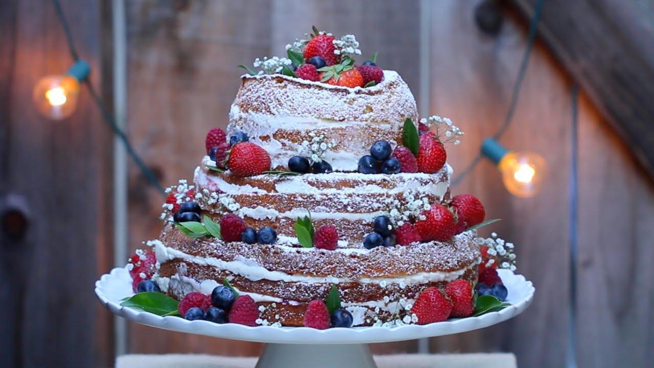 Quot Naked Quot Wedding Cake Gemma S Bigger Bolder Baking Ep 15