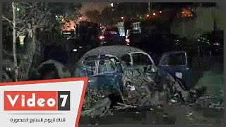 """تحطم زجاج نوافذ مسجد """"الصفا"""" إثر انفجار قنبلة الألف مسكن"""
