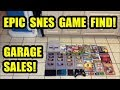EPIC GARAGE SALE VIDEO GAME FINDS! SUPER NINTENDO CLASSICS! | Scottsquatch thumbnail