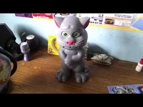 """Китайская игрушка. Говорящий кот правильно реагирует, отрицательно, на лозунг """"Слава Украине!"""""""