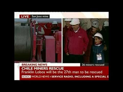 ★CHI! CHI! CHI! LE! LE! LE!★ First Chilean Miner Rescued, Chile Mine Trapped 69 Days
