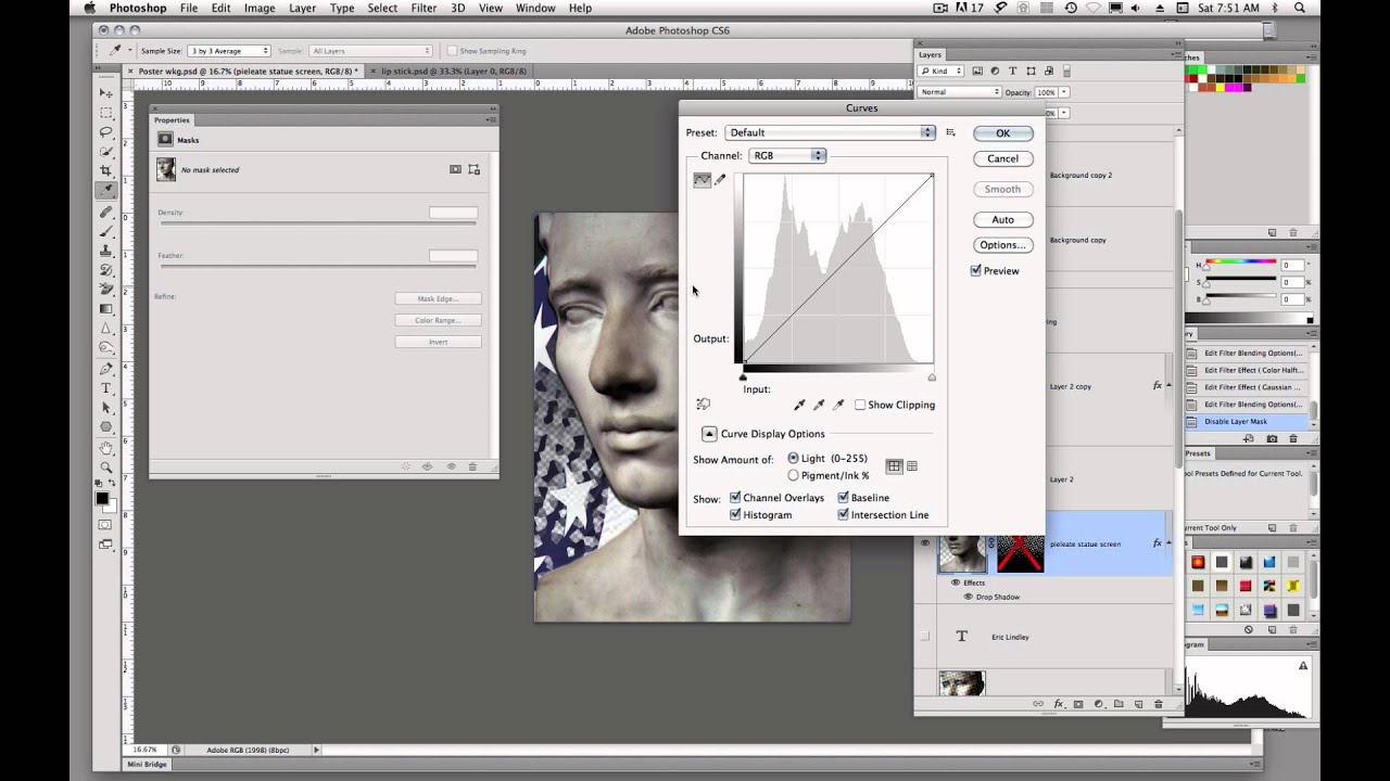 how to find adjustments controls in layers photoshop
