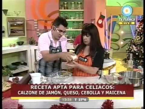 Receta Apta para Celíacos by MAIZENA Calzone de Jamón, Queso, Cebolla y Maizena
