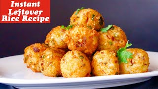 LockDown Recipes, Instant breakfast recipe, LeftOver Rice recipe, Indian spicy Rice Balls recipe