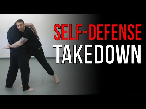 Body Lock Takedown  - Street Fighting Jiu Jitsu Techniques - Self-Defense Throw Image 1