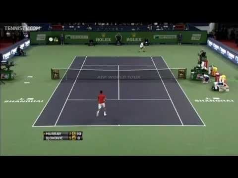 Djokovic Pulls Tweener In Shanghai Final Hot Shot Rally