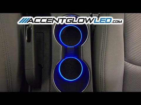 Hyundai Elantra LED Cup Holder Light DIY Install Kit 2011 +Up
