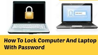 How To Lock Computer And Laptop With Password ''Bangla tutorial''