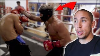 Reacting to FOUSEY Boxing.. He's better than I thought..