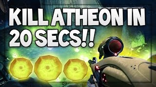 "Destiny : ""Kill Atheon In 20 Seconds"" On Hard Lvl 30 Raid Boss (INSANE GLITCH)"