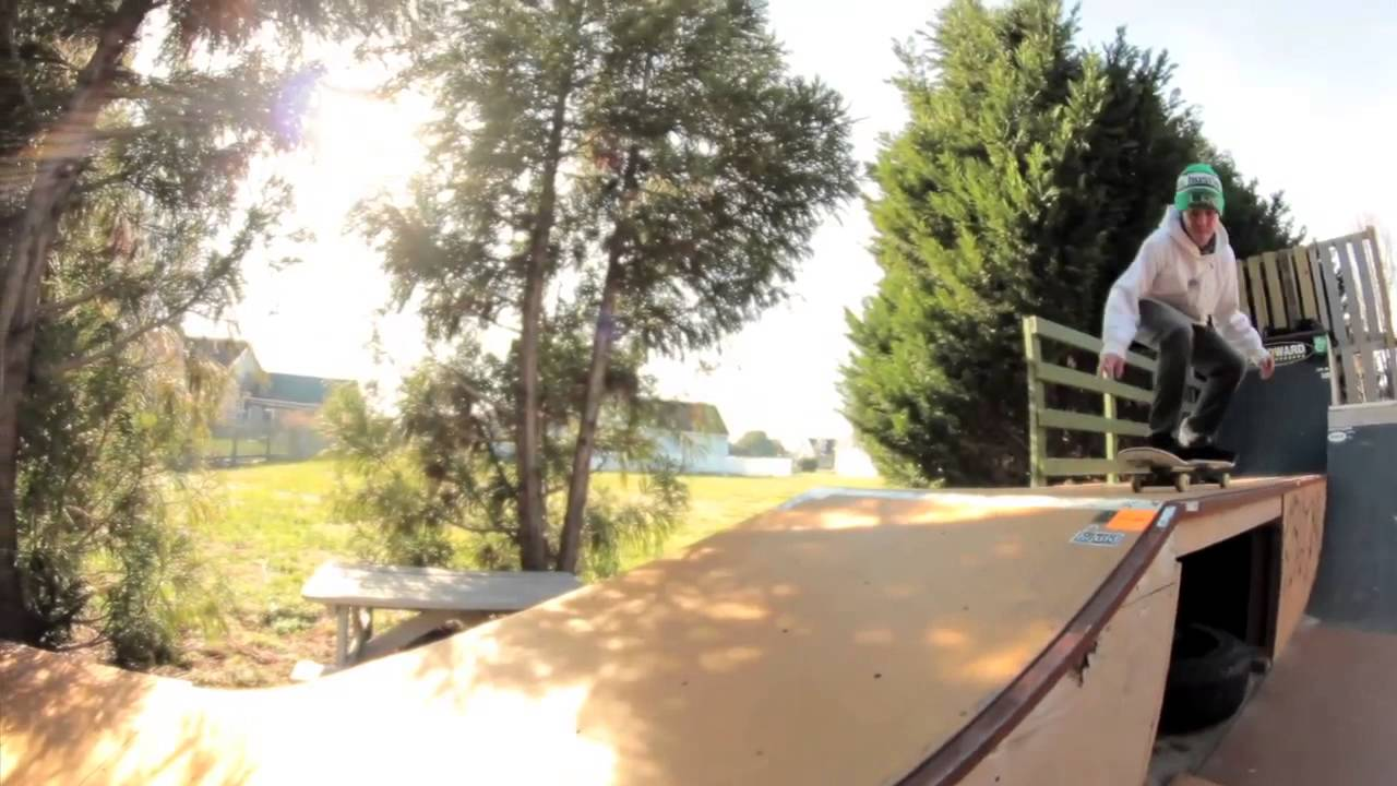 backyard skatepark montage youtube