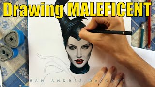 Drawing Maleficent By Juan Andres