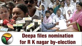Deepa Jayakumar's Press Meet after filling Nomination for RK Nagar By-Election
