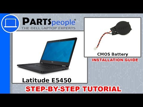 Dell Latitude E5450 CMOS Battery Replacement Video Tutorial