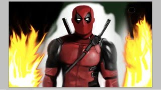 Speed Painting DEADPOOL  (Speed Drawing). Deadpool - 2016(from film)
