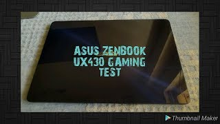 Asus UX430 UN , MX150 Gaming Performance |  Does it throttle in games ?