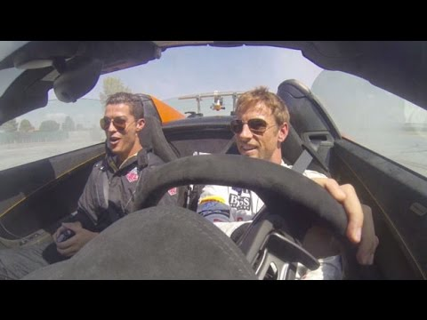 Jenson Button teaches Cristiano Ronaldo to drive supercar