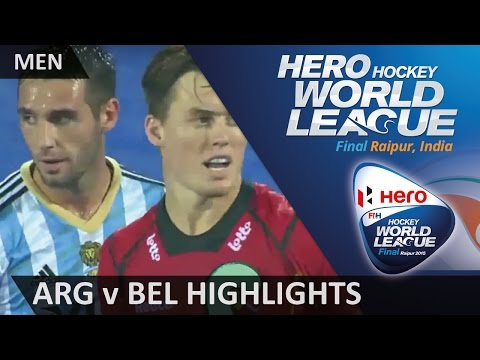 Argentina v Belgium Match Highlights #HWL2015 #Raipur