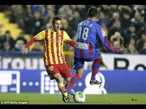 El control maravilloso de Messi | LEVANTE 1 - BARCELONA 4