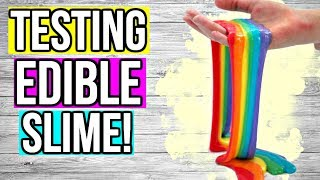 TESTING POPULAR EDIBLE SLIME RECIPES! How To Make EDIBLE Slime!