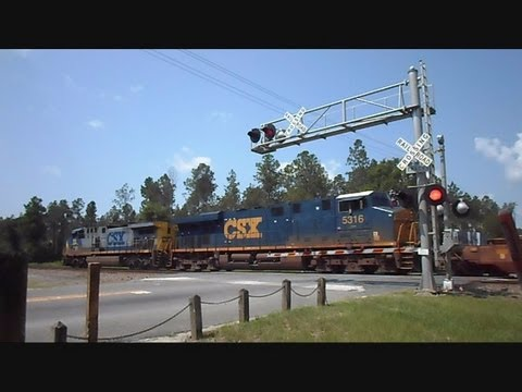 CSX Intermodal Train At Folkston Georgia