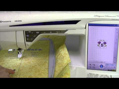 Husqvarna Viking Designer Diamond 92 Embroidery Corner to Corner Check