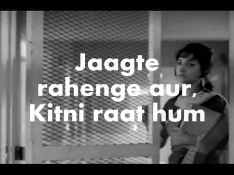 Tum Pukar Lo-karaoke & Lyrics-khamoshi video