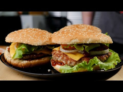 Как приготовить бургер - видео