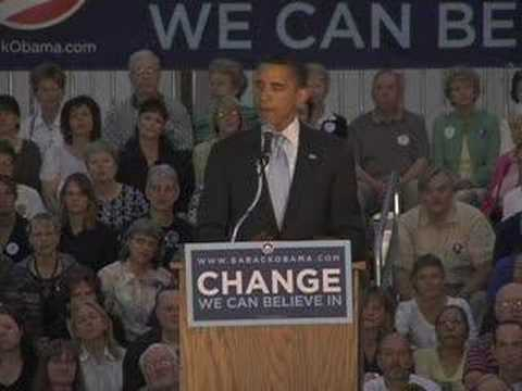 Barack Obama on Iraq in Rapid City, SD