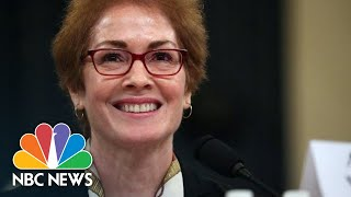 Former Ukraine Ambassador Applauded After Impeachment Inquiry Testimony | NBC News
