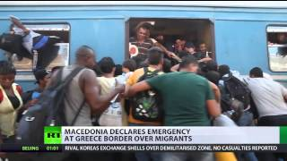 Macedonia declares state of emergency over surge in migrants & refugees